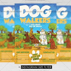 Dog Walkers - Premium A5 Flyer Template