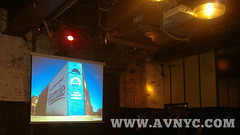NYC ARTISTS for BERNIE projector and screen setup, projector rental new york city, professional event planning by AVNYC