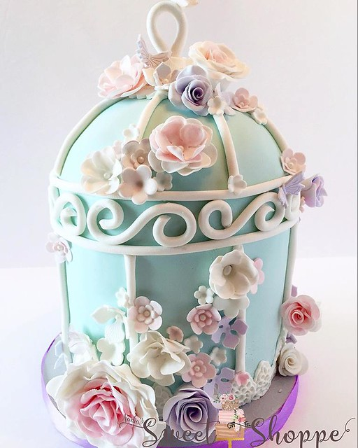 Bird's Cage Cake by Nadia's Sweet Shoppe