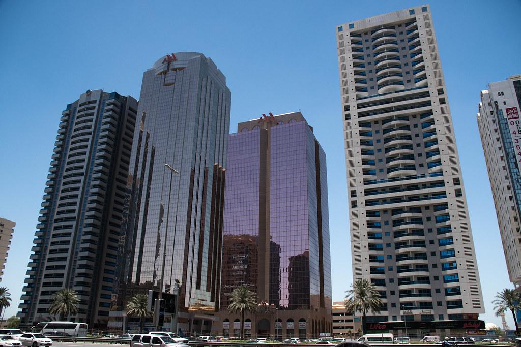 Towers along Sheikh Zayed freeway
