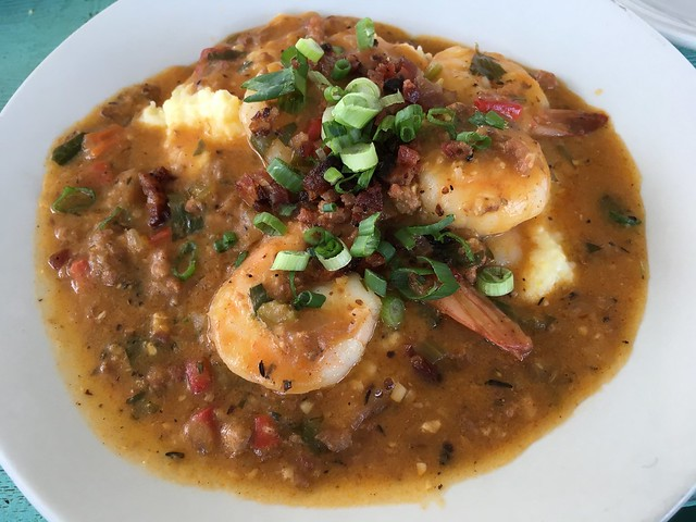 Wild shrimp and grits - The Fremont Diner