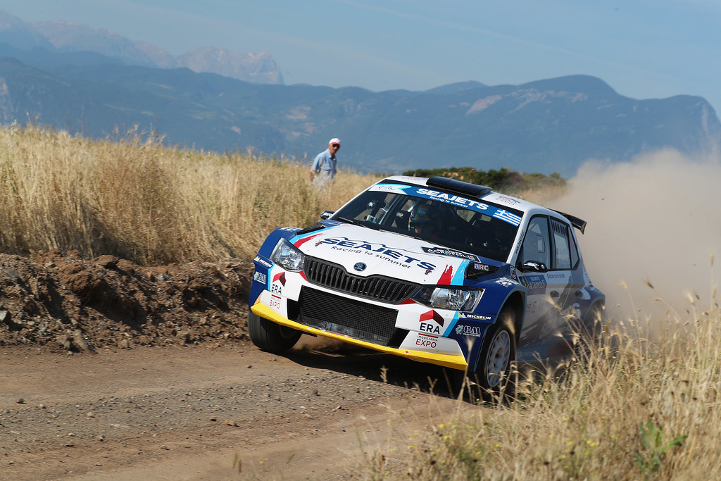01 MAGALHAES Bruno (prt) and MAGALHAES Hugo (prt) action during the European Rally Championship 2017 - Acropolis Rally Of Grece - From June 2 to 4 - Photo Gregory Lenormand / DPPI