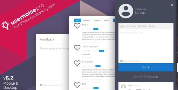 Usernoise Pro v5.2.2 – Modal Feedback & Contact form