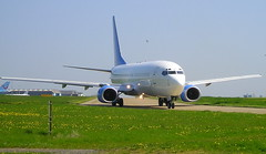 """HELIOS  5B-DBH B737-800 departing """"Durham Tees Valley Airport"""""""