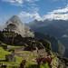 industrial sector with foggy Wayna Picchu backdrop by jetomlin