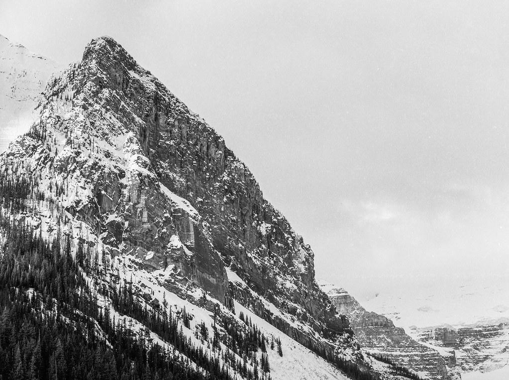 The hill at Louis Lake, Banff