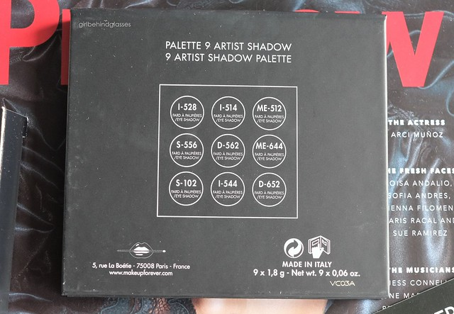 Make Up For Ever Artist Shadows Palette #1 3