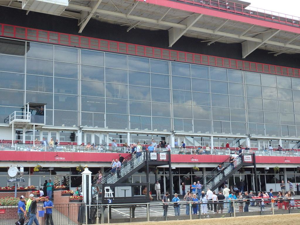 Pimlico grandstand.