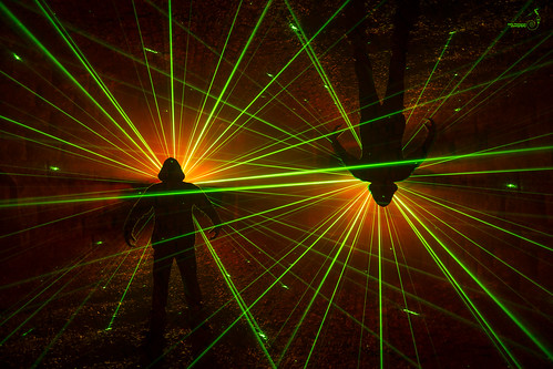 Hanging around with lasers and smoke