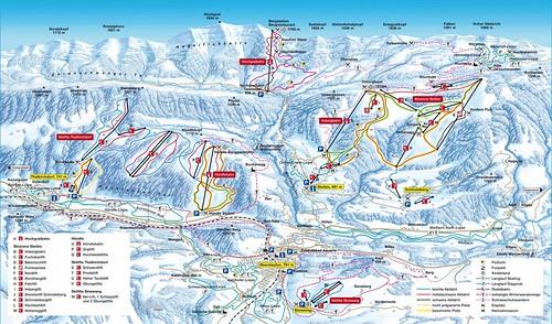 Oberstaufen - mapa sjezdovek