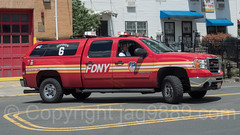 FDNY Division 6 Fire Chief Vehicle, West Farms, South Bronx, New York City