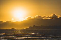 wind-blown sunset waves