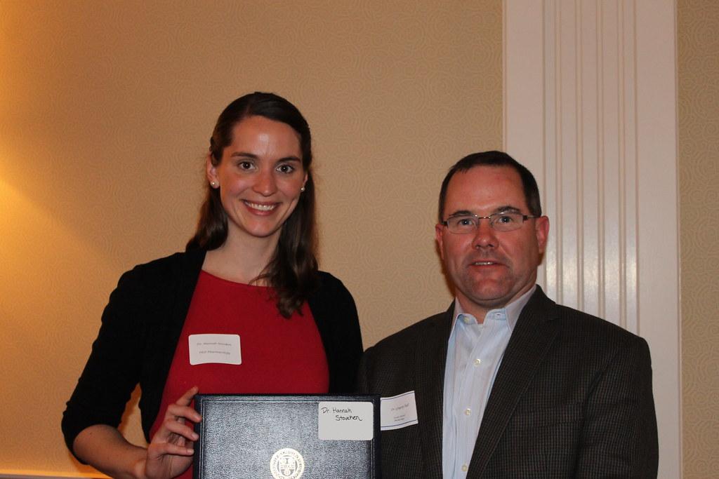 Hannah Stoveken (Phamacology) recipient of the Wallace O. Fenn Award with Advisor Gregory Tall