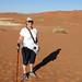 0215 Karen on the walk to the dead lake - Namib desert  - Sossusvlei Namibia - 04-15-2017