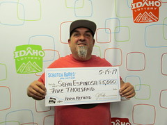 Sean Espinosa - $5,000 - Rapid Refund - Jacksons Food Stores - Nampa