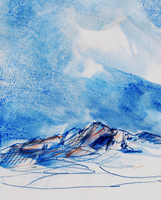Wales: Carn Llidi in blue and orange