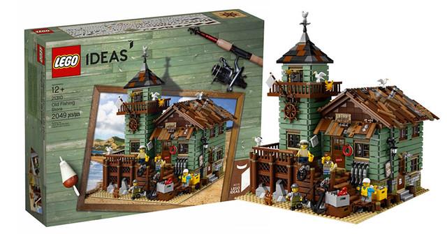 「新增建築內部細節圖,配件超多令人好興奮!」矗立在海岸邊的老式釣具店!!LEGO 21310 ideas 系列 【老漁屋】Old Fishing Store 滿滿的懷舊風情~