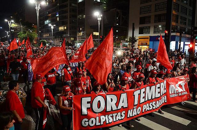 Manifestação Fora Temer na Avenida Paulista  - Créditos: Rovena Rosa/Agência Brasil