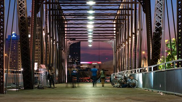 Hays Street Bridge at Night