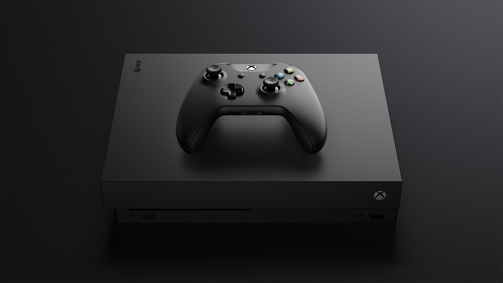 Xbox-One-X_Console-Controller_FrontTilt-Top