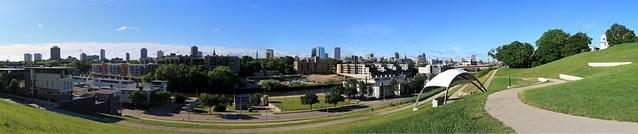 Kadish Park Spring Morning Panorama