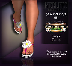 Merlific - Sony Flip Flops Women Only Hunt 3 (WOH3)