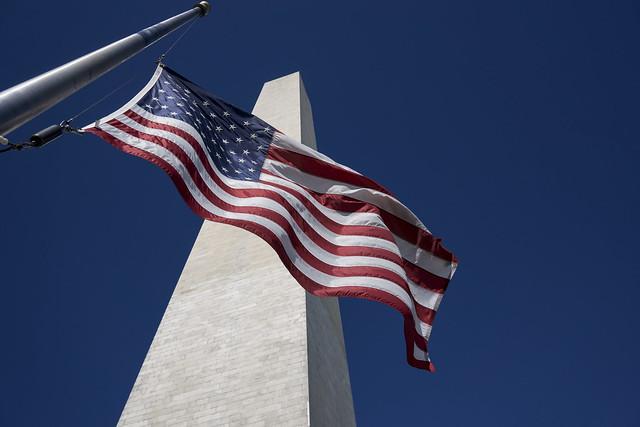 Flag over Washington (Half Mast)