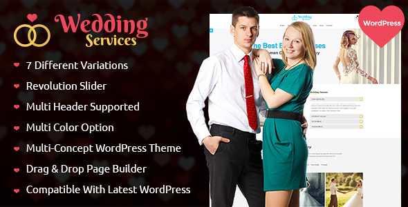 Wedding Services WordPress Theme free download