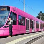 Pink tramway