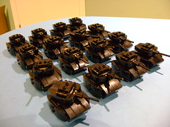 Army of Lego mini tanks V2