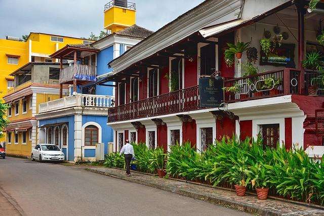 Fontinhas heritage quarter Panjim