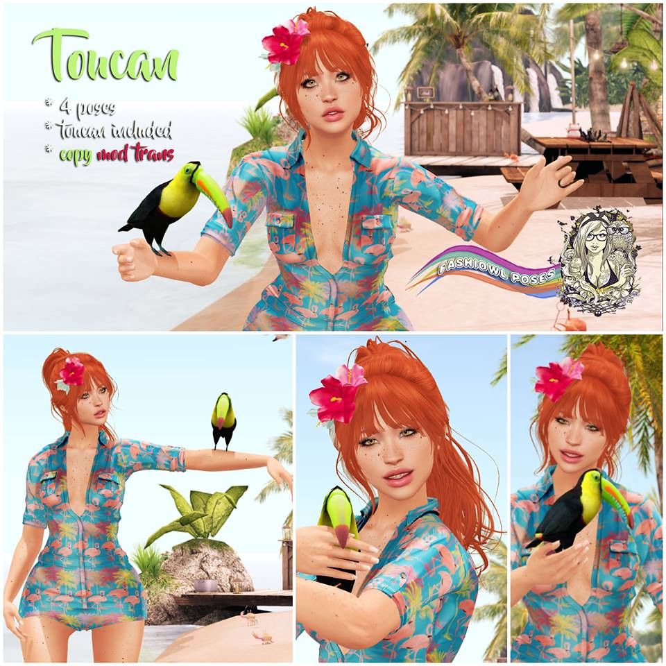 =fashiowl poses= Toucan - SecondLifeHub.com