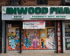 Inwood Pharmacy Storefront Mural, Manhattan, New York City