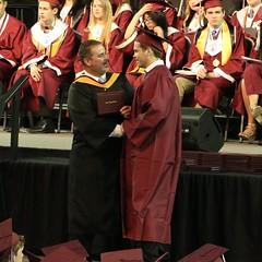 The Hand shake.  The Diploma.