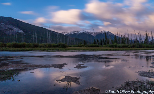 improvementdistrictno9 alberta canada ca vermilion lakes sunrise clouds reflection trees lee big stopper long exposure snow capped snowcapped canon 6d