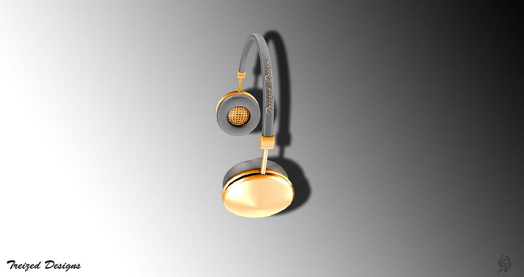 -Treized Designs-Gold headphones - SecondLifeHub.com