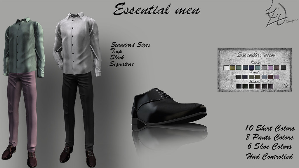 Treized Designs Essential Men Set Fatpack - SecondLifeHub.com