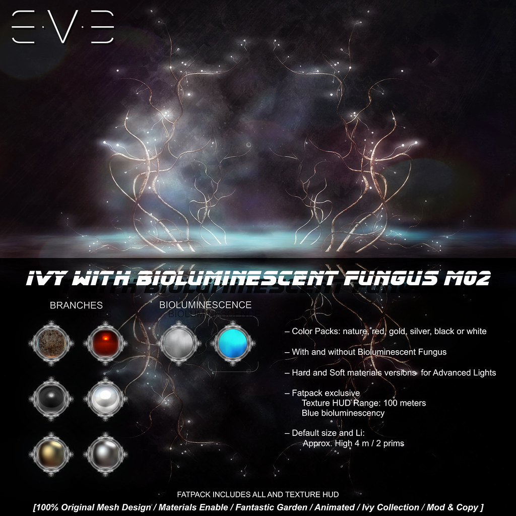 E.V.E Ivy with Bioluminescent Fungus M02 [Colors] - SecondLifeHub.com