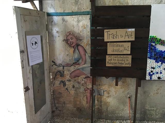 イポーの壁画で一番有名なマリリンモンロー