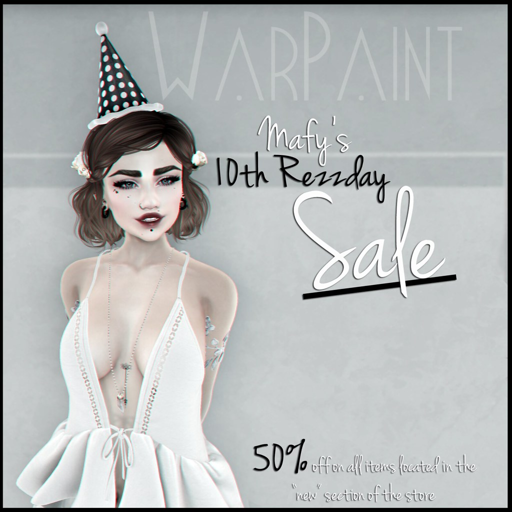 WarPaint* 10th Rezzday Sale - SecondLifeHub.com