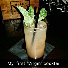 #noalcohol for me. I'm  #drinking a #virgincocktail #drinksareonme #comedrinkwithme #funtimes #tba #tbasa #tbasatx #nonalcoholic
