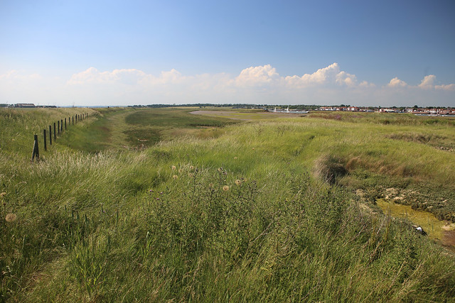 The view from Wallasea Island looking west