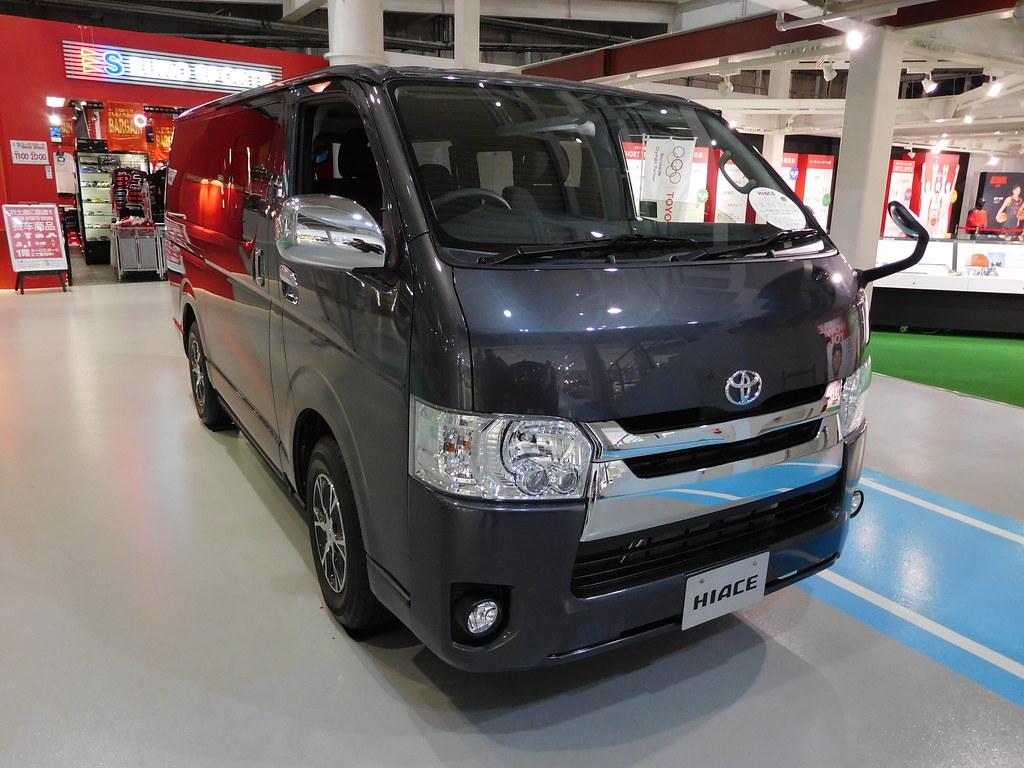 Toyota Hiace, Toyota Megaweb, Odaiba, Tokyo, Japan.
