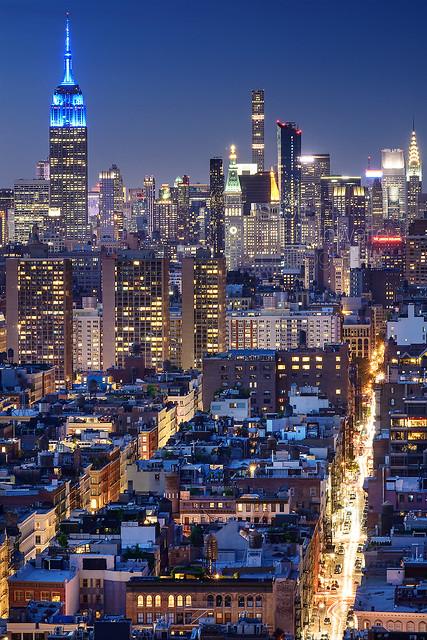 Bright lights of Midtown, New York