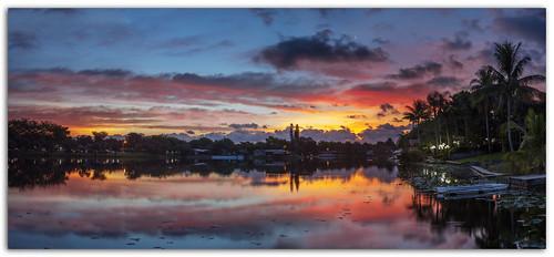 sunrise colors sun lake backyard miamilakes