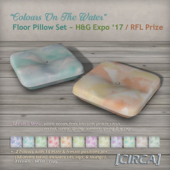 H&G Expo Hunt Prize ~ Colours On The Water - Floor Pillow Set - H&G Expo Prize
