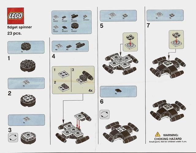 Instrukcja budowy Lego Fidget Spinner 1