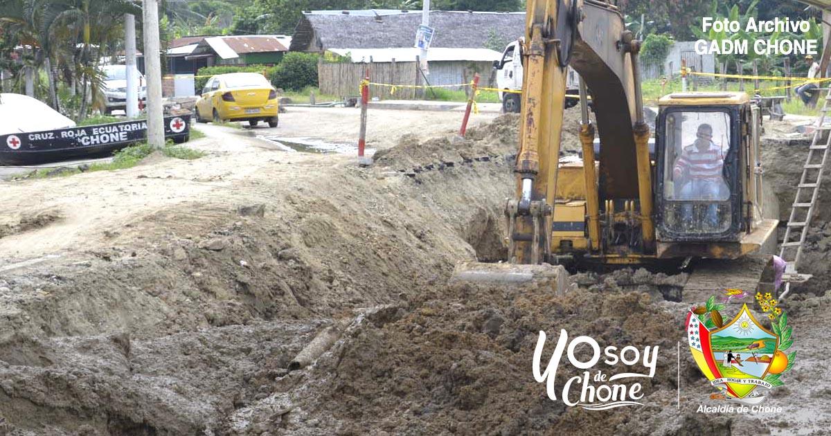 Alcantarillado sanitario y agua potable de San Antonio continúa
