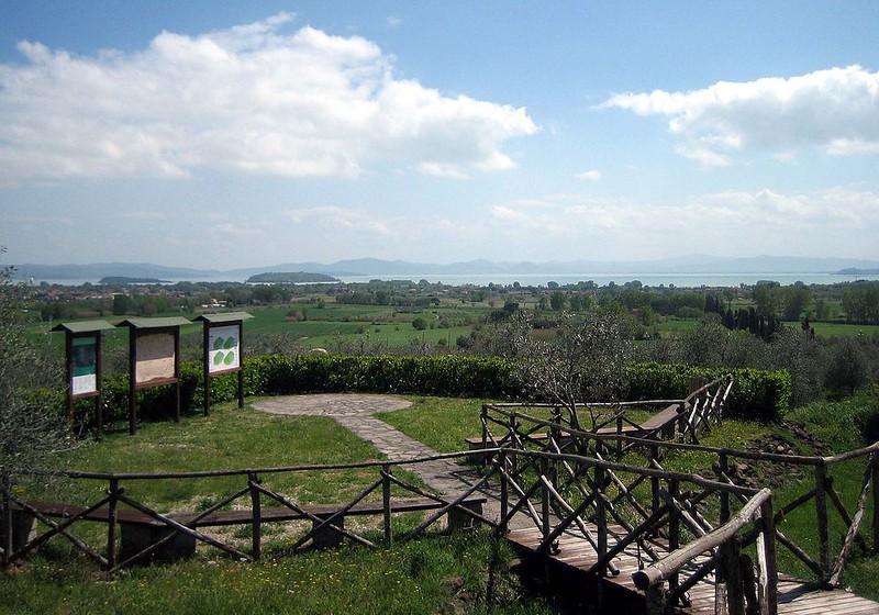 Battlefield of Battle of Lake Trasimene and see