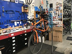 Fixed the transmission in the bike shop